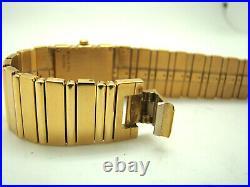 PIAGET POLO 18K YELLOW GOLD 20mm WIDE WOMEN's QUARTZ WATCH 8131C701 on BRACELET