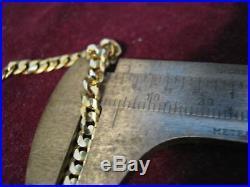 Parma Italy 14K Yellow Gold 4mm Wide CUBAN LINK 7 Bracelet, 19 63 PR Mark LQQK
