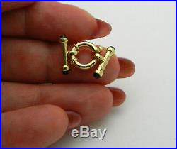 Pre-owned 14k Solid Yellow Gold Spring Ring Clasp for bracelet or wide chain