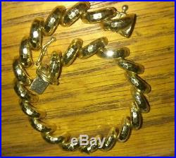 Pretty Solid 10k gold bracelet 13.1 grams stamped 7 long 8mm wide