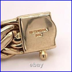 RARE ESTATE VINTAGE TIFFANY & CO 14k GOLD RUSSIAN WEAVE LARGE 10mm WIDE BRACELET