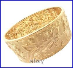 Rare Authentic Carrera Y Carrera Eros 18k Yellow Gold Wide Bangle Bracelet