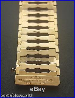 Retro Vintage Wide Bracelet 18K Rose Gold 32.7 Grams