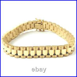 Rolex Style Bracelet 9ct Yellow Gold 375 Solid BRAND NEW 29.7g 10mm Wide 8