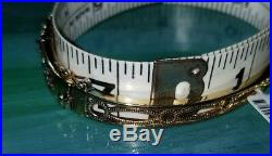Ross Simons 18k yellow gold sterling silver multi Gemstone wide bangle bracelet