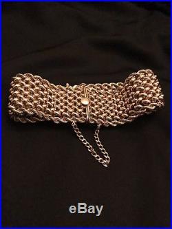 SALE ENDING Dec. 31. 14k Gold Bracelet. 53g Of Gold! Almost 1 Wide! Stunning