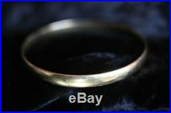 SOLID 9ct GOLD 6mm WIDE x 195mm'D' SHAPE SLAVE BANGLE BRACELET WEIGHT 17g