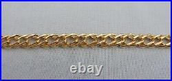 STUNNING WJJ SHEFFIELD 9CT YELLOW GOLD 7 DOUBLE LINK BRACELET 5mm WIDE 2.6g