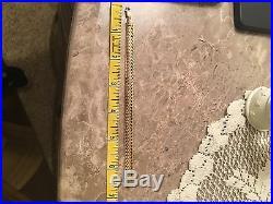 Solid 14k YG Bracelet Size 6.5Long 3/8 Wide At 6.3g Beautiful Gold Work
