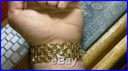 Solid heavy wide 18k gold bracelet 29.46 grams 7.75 long 23mm wide