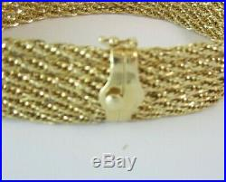Stunning Ladies 14k Yellow Gold (7-7/8) Wide Bracelet 15.3g