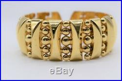 Stunning Wide Open Cuff Bracelet 18K Yellow Gold, 52.5g