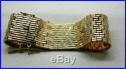 Superb Heavy Quality Solid 9 Carat Gold Broad Brick Link Bracelet