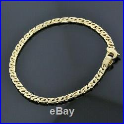 Tiffany & Co. 18K Yellow Gold 4mm Wide Fancy Z Link Chain Bracelet 8.5 Men's