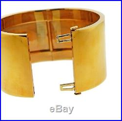 Tiffany & Co Gold Wide Bangle Bracelet
