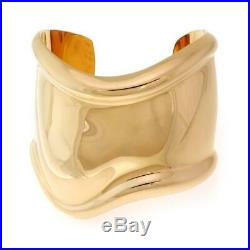 Tiffany & Co Peretti Bone 18k Yellow Gold Wide Contour Cuff Bracelet Ret $15,500