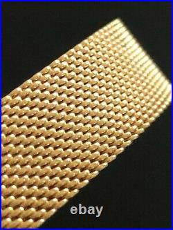 Tiffany & Co SOMERSET MESH Bangle Bracelet 3/8 Wide 18k / 750 Yellow GOLD