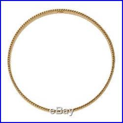 Tiffany&Co. Somerset 18K 750 Yellow Gold Mesh Design 3.5 Wide Bangle Bracelet
