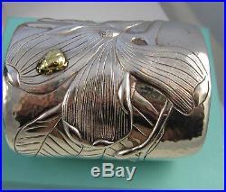28873aedd Tiffany & Co Stunning MAGNOLIA & BUG Sterling Silver 18K Gold Wide Cuff  Bracelet