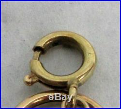 UNIQUE VINTAGE 14K YELLOW GOLD 14mm WIDE ROUND LINK 7 1/2 BRACELET