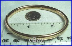 VICTORIAN 14K Gold Snap Bangle Bracelet 9.4 grams 1/4 wide