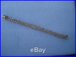 VINTAGE 14 KARAT SOLID GOLD CHARMS BRACELET 7 LENGTH 13mm WIDE HEAVY 24.7 grams