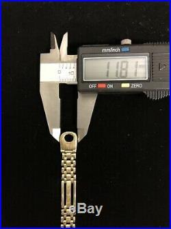 Very Nice 14K Quality Gold Mens Bracelet 16.9 Grams 9 3/4MM wide No scrap Lot