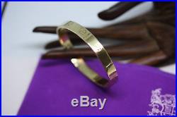 Vintage 14K Solid Yellow Real Gold 7 MM Wide Love Screw Bracelet 7 Heavy 12 Gr