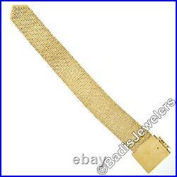 Vintage 14k Gold 1 Wide Fancy Link Chain Adjustable Buckle Bracelet Heavy 115g