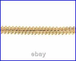 Vintage 14k Yellow Gold 10mm Wide Woven Bracelet 7