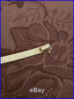 Vintage 14k Yellow Gold Omega Style Bracelet 17 Grams Heavy 6mm Wide
