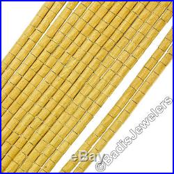Vintage 18K Gold 4.40ct Wide Ruby Textured Multi Strand Link Heavy Bracelet 106g