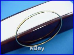 Vintage 18k Solid Gold Plain Slip On Bangle Bracelet 11.5 Grams, 3 MM Wide