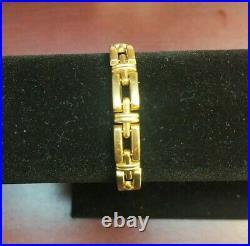 Vintage 18k Yellow Gold Wide Open Chain Link Bracelet, 7, 15.3 Grams