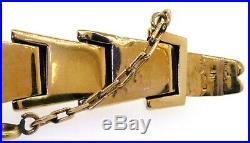 Vintage 1940s heavy 18K Pink gold high fashion 13.3mm wide retro link bracelet