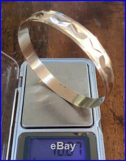 Vintage 1960s, Solid 9ct Rose Gold, Wide Bangle Bracelet. 10.87g
