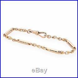Vintage 9Carat Rose Gold 7.5 Barley Link Bracelet (3mm Wide)