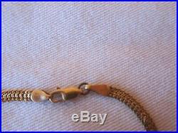 Vintage Italian 18 K gold herringbone bracelet 3.7 grams 3 mm wide
