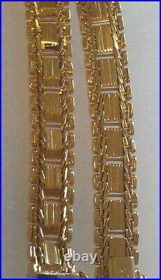 Vintage Ladies Stunning 18K Solid Yellow Gold Flexible Wide Heavy Bracelet