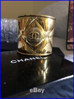Vintage MINT Chanel Iconic 2.5 Wide Runway Cuff Bracelet