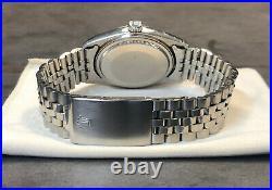 Vintage Rolex Datejust 36mm 1601 18k Wg/ Steel Silver Wide Boy Sigma Dial
