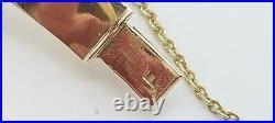 Vintage Solid 10k Gold Diamond Patter Hinged Bracelet 62mm Wide 14.9 grams