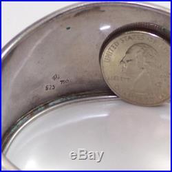 Vintage Sterling Silver 18K Gold Butterfly Wide Flower Cuff Bracelet LDA3