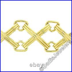 Vintage Tiffany & Co. Schlumberger Studios 18k Gold Wide Grooved X Link Bracelet