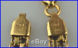 Vtg 14k Yellow Gold Bismark Mesh Bracelet 5 Grams 7.25 Long 4.7 MM Wide Italy