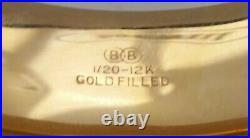 Vtg Gold Filled Hinged BANGLE BRACELET Engraved Flowers Floral 3/4 In Wide BB