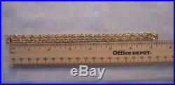 WIDE & HEAVY Vintage 14k Gold DOUBLE LINK CHARM BRACELET 7.25 In 20.6 Gr #17175