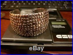 WOW! $800 EFFY D'ORO Dot Cuff Bracelet Sterling Silver 14K Gold 63G 1.5 Wide