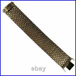 Wide 18K Gold Tri-Color Bracelet
