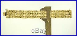 Wide Bracelet 14K Yellow Gold 7.75 Unique Estate Find